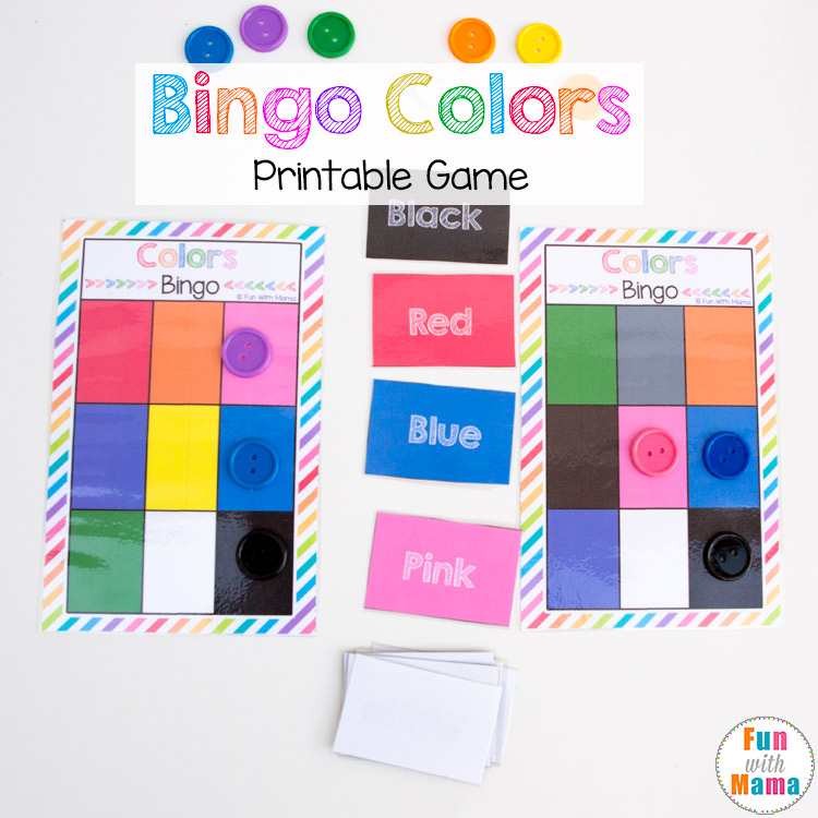 bingo colors printable game