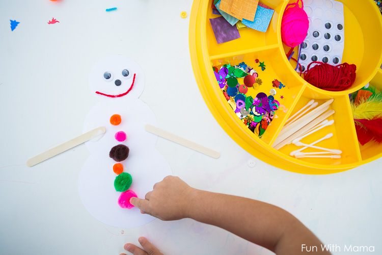 build a snowman craft activity