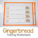 Gingerbread Tracing Worksheets