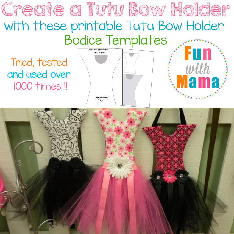 Tutu Hair Bow Holder Template Pattern Fun With Mama