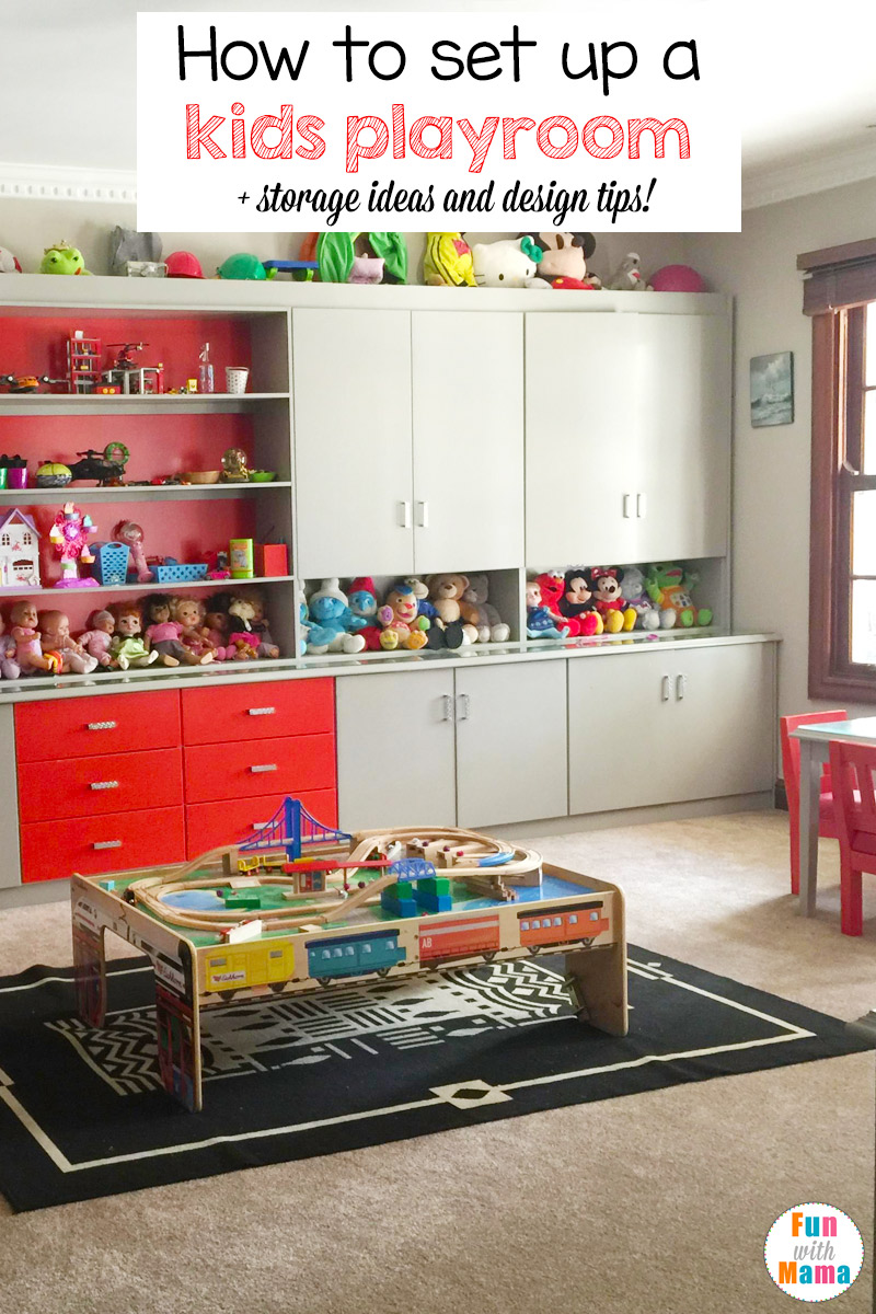 Kids playroom ideas and toy room tips fun with mama - Best way to organize bedroom furniture ...