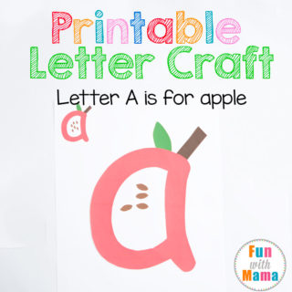 Printable Letter A Crafts A for Apple
