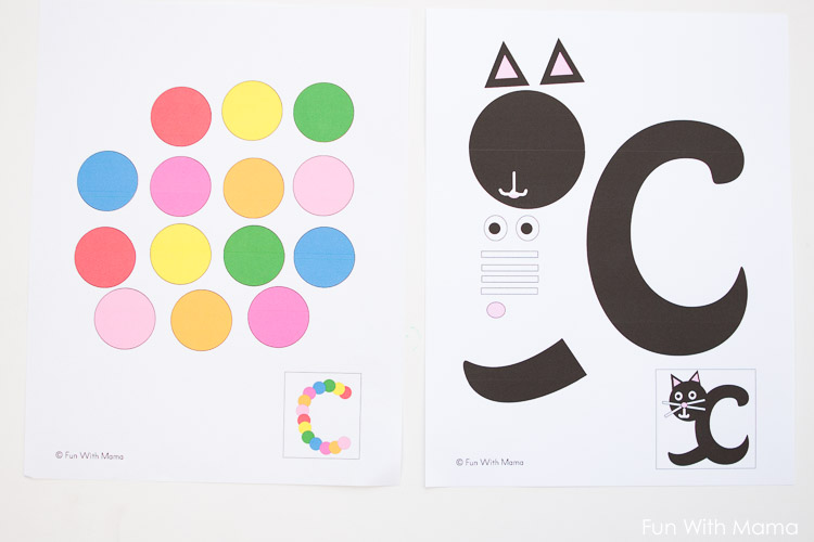 Printable Letter C Craft C Is For Caterpillar Fun With Mama