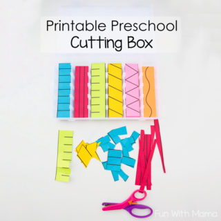 Printable Preschool Cutting Busy Box