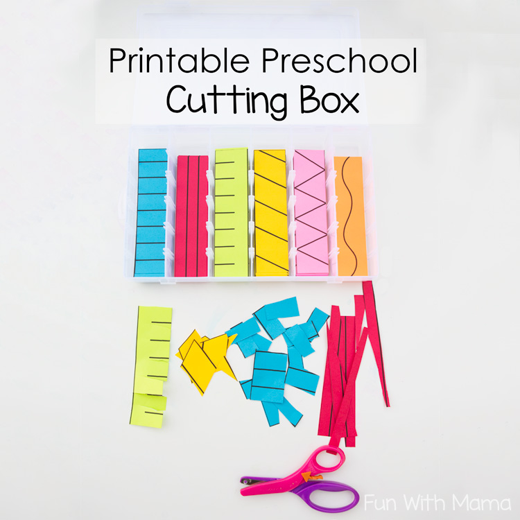 Printable Preschool Cutting Busy Box - Fun With Mama