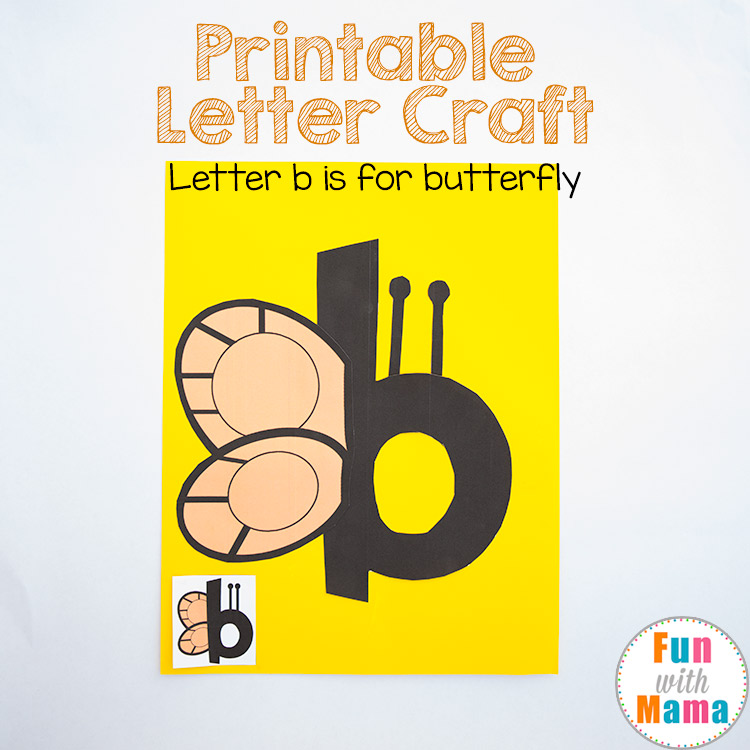 letter b is for butterfly craft