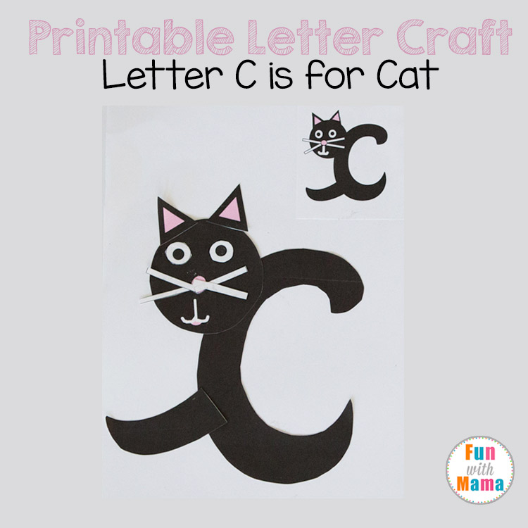 printable letter c crafts