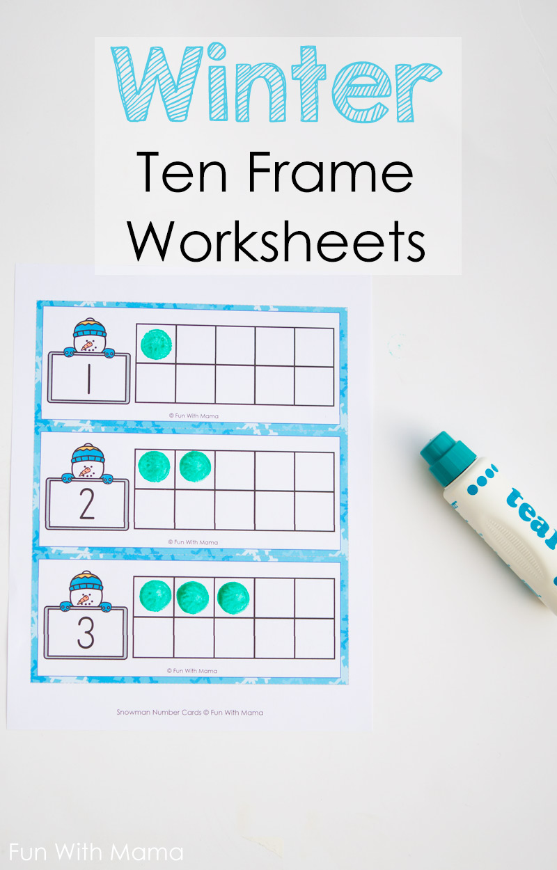 printable ten frame worksheets