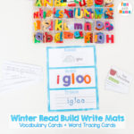 Free Winter Read Build Write Mats