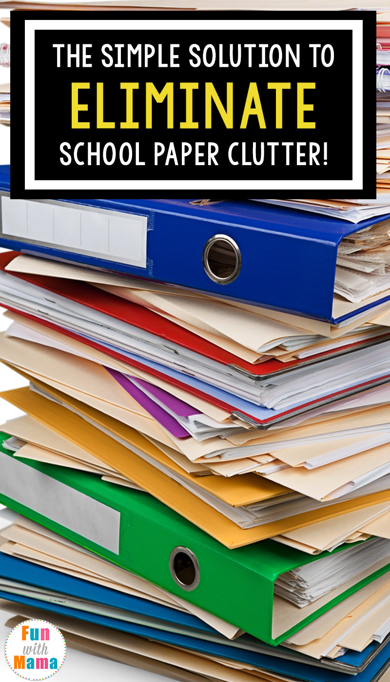 Simple solution to organize kids school papers, stuff, work and documents like report cards, certificates, school pictures and more with these awesome storage tips.