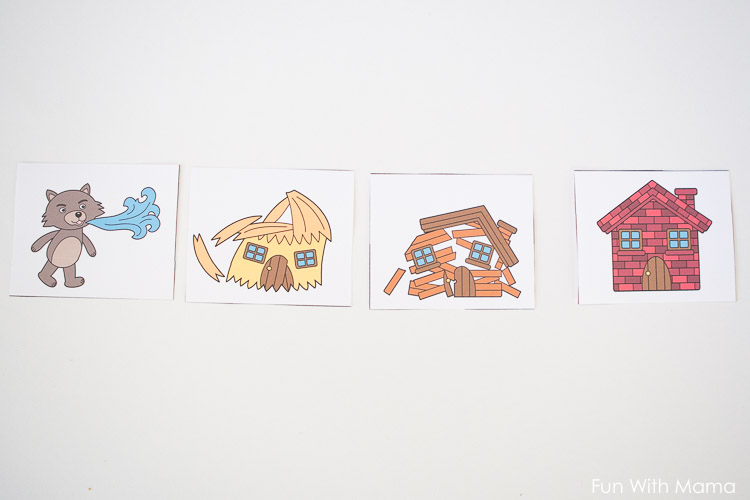 three little pigs sequencing activities for preschoolers kindergarten