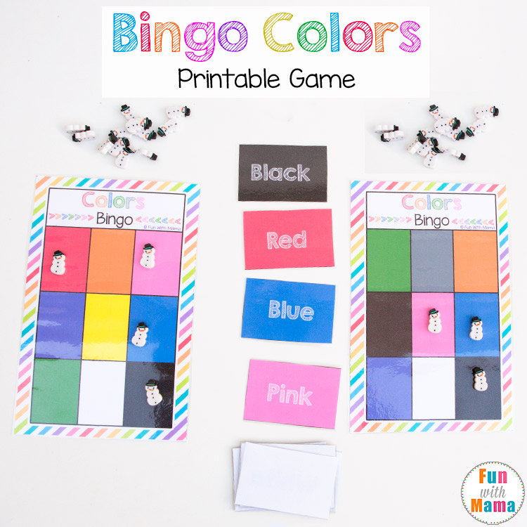 winter preschool bingo