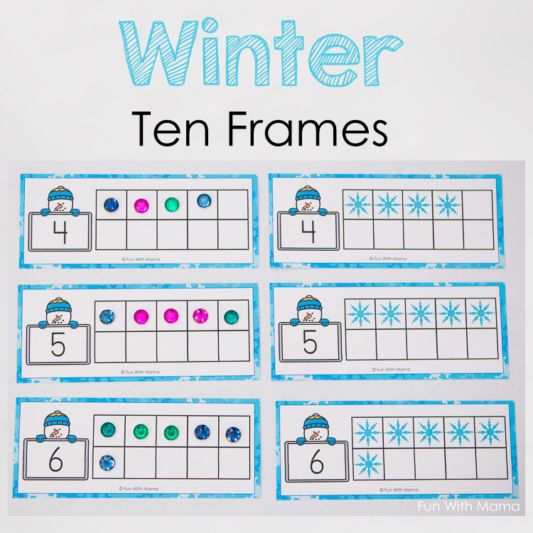winter ten frames