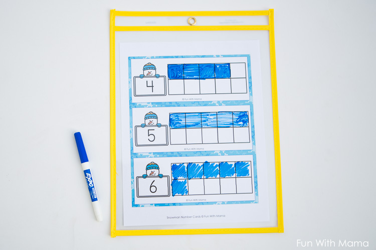 10 frame worksheets