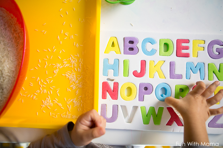 alphabet puzzle activity for toddlers and preschoolers