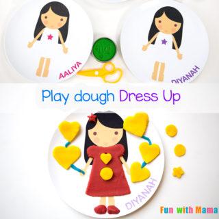 Playdough Dress Up Activity