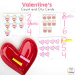 Valentine's Day Count and Clip Cards