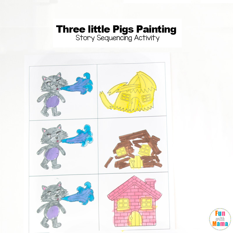 3 Little Pigs Craft Sequencing Coloring Pages: Sequencing Worksheets For Painting At Alzheimers-prions.com
