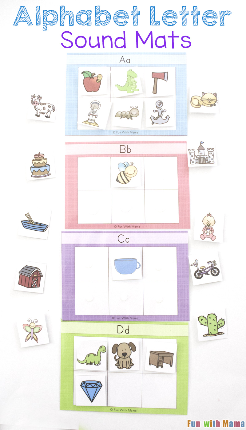 Alphabet Letter Sound Mats Fun With Mama