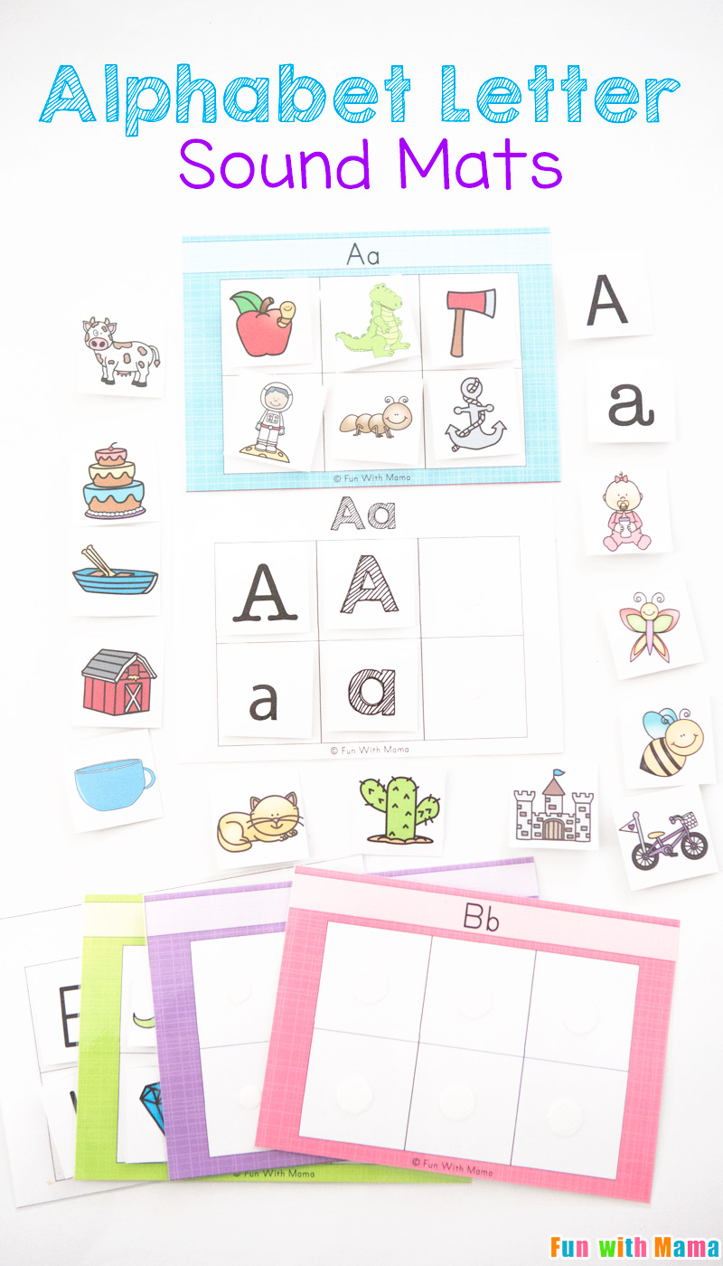 Alphabet Letter Sound Mats - Fun with Mama