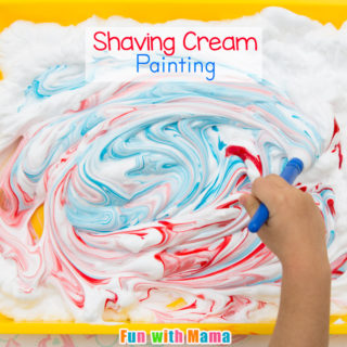 Shaving Cream Painting Process Art for Preschoolers