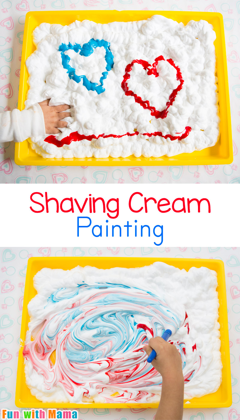 Shaving cream painting process art for preschoolers fun for Arts and crafts for 5 year old boy