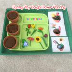 Preschool Spring Flower Planting Play Dough Activity