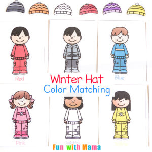 Winter Hat Color Matching Activity For Toddlers Fun With