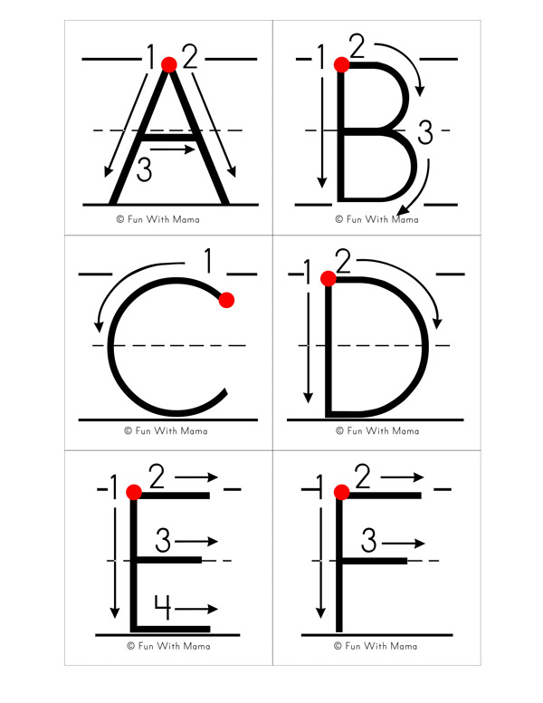 Alphabet Letter Formation Cards Fun With Mama