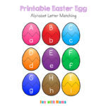 Easter Alphabet Letter Match Activity for Preschoolers