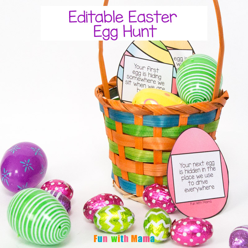 Easter egg scavenger hunt with editable clues fun with mama more easter activities and ideas negle Images