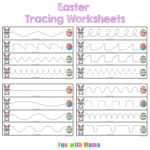 Easter Tracing Worksheets for Preschoolers