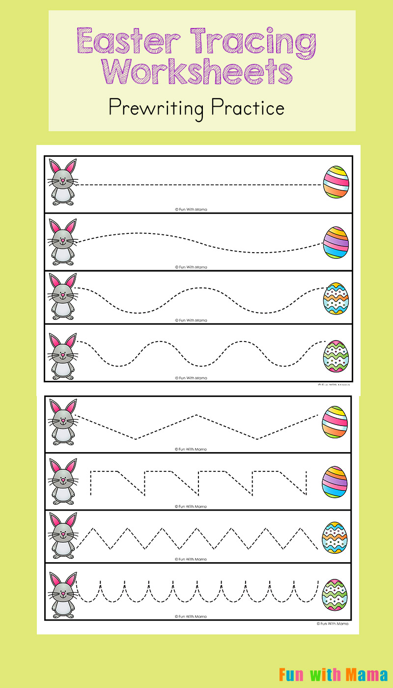 Worksheets Toddler Handwriting Worksheets easter tracing worksheets for preschoolers fun with mama have your preschooler take the bunny to his egg while working on their pre writing skills see how you can strengthen fine moto