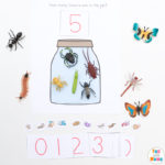 How Many Insects In The Jar Spring Counting Activity