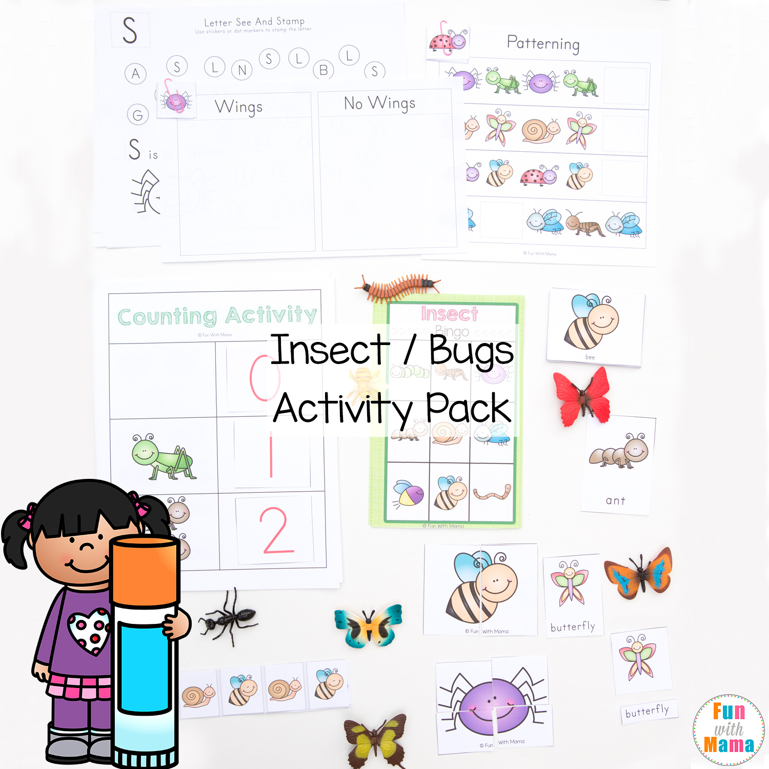 printable insect activity pack for preschoolers