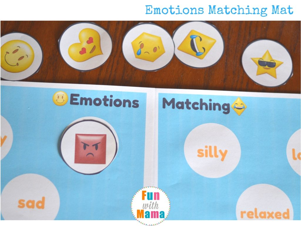 emotions matching activity