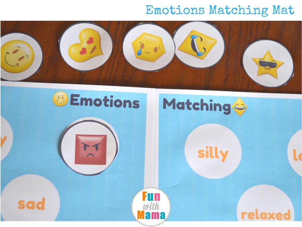 emotions matching activity