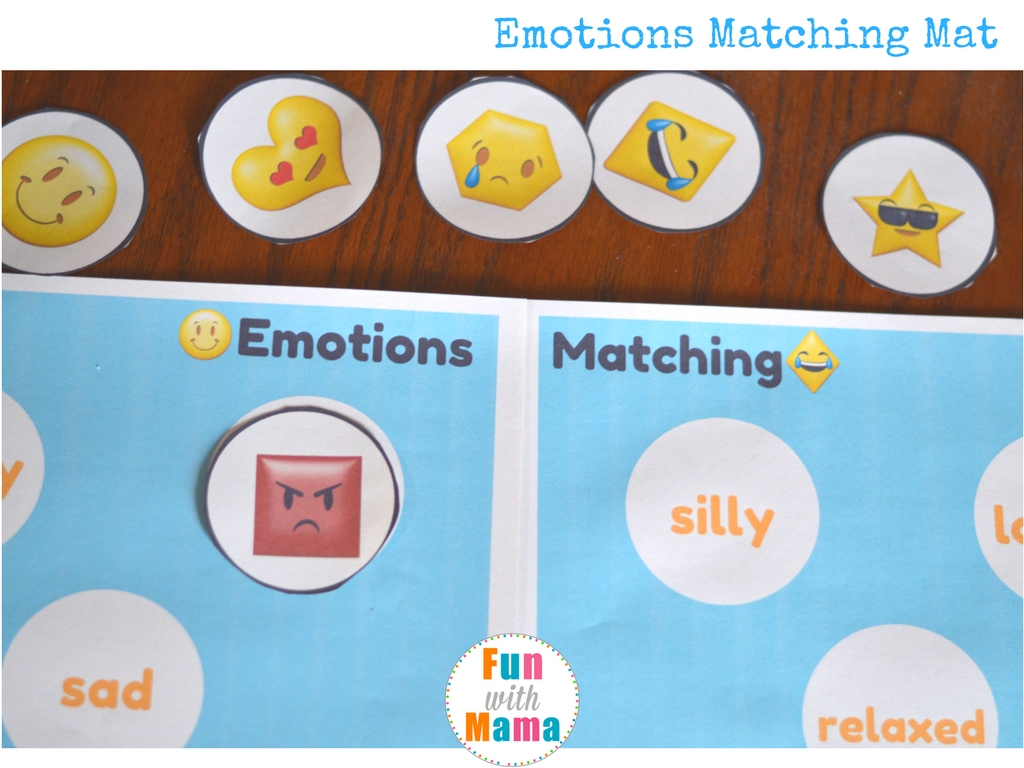 Emotions + Shapes Free Printable Preschool Pack - Fun with Mama