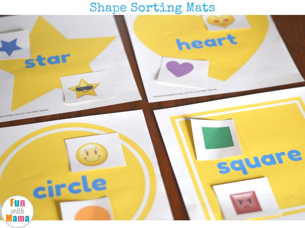 shapes sorting mats