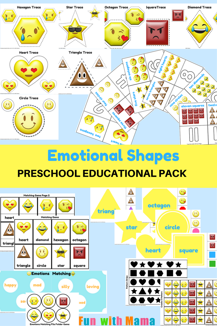 emotions shapes free printable preschool pack - Pictures For Preschool