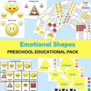 Emotions + Shapes Free Printable Preschool Pack