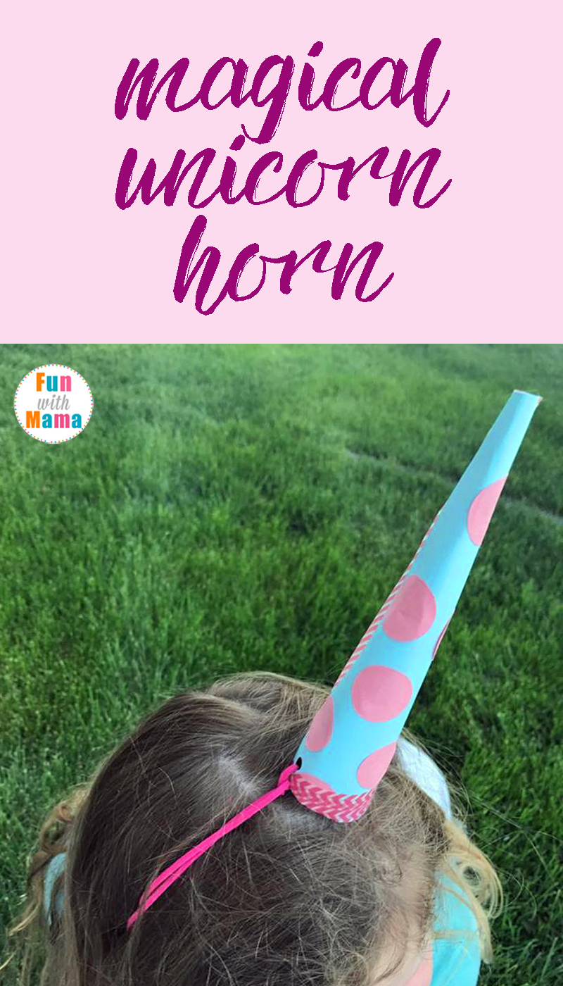 How To Make A Super Easy Unicorn Horn For Pretend Play. With just a few simple craft supplies you can help your child make this adorable unicorn horn full of magic and wonder.