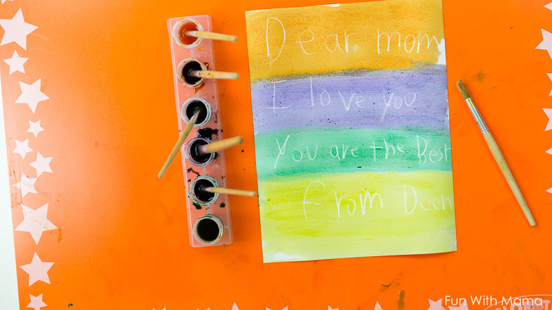 mothers day crafts crayon resist painting