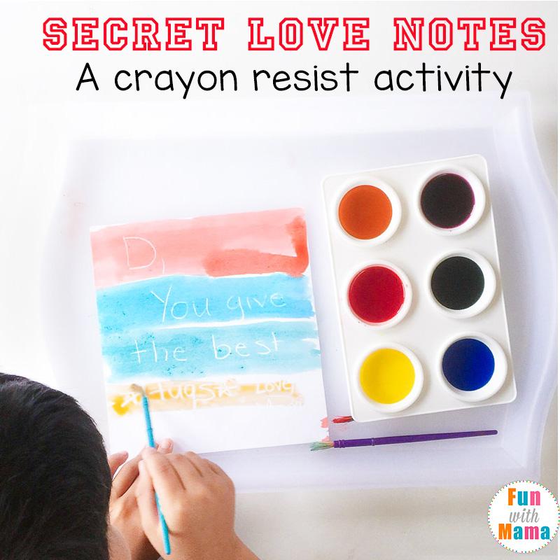 crayon resist painting