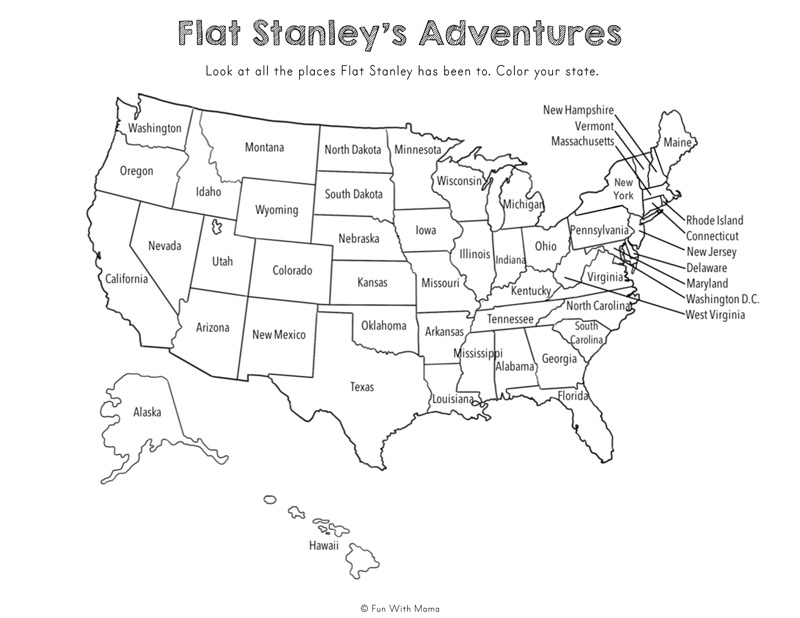 Flat Stella + Flat Stanley Printable Activities - Fun with Mama