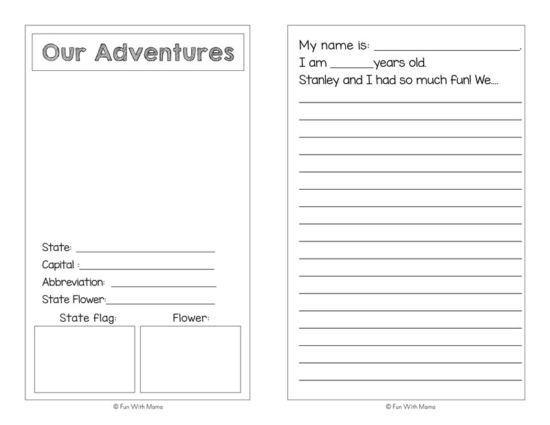 flat stella   flat stanley printable activities