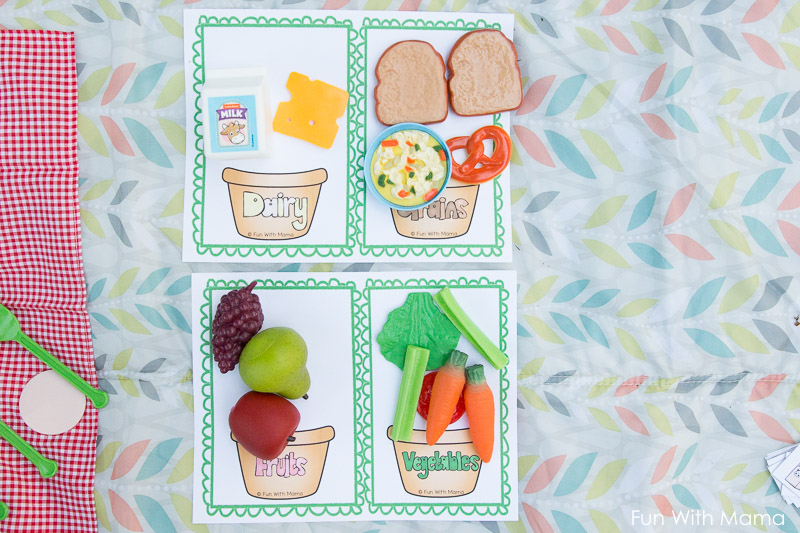 food group worksheets