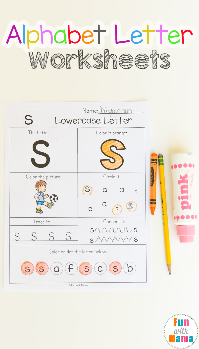Workbooks this and that worksheets : Alphabet Worksheets - Fun with Mama