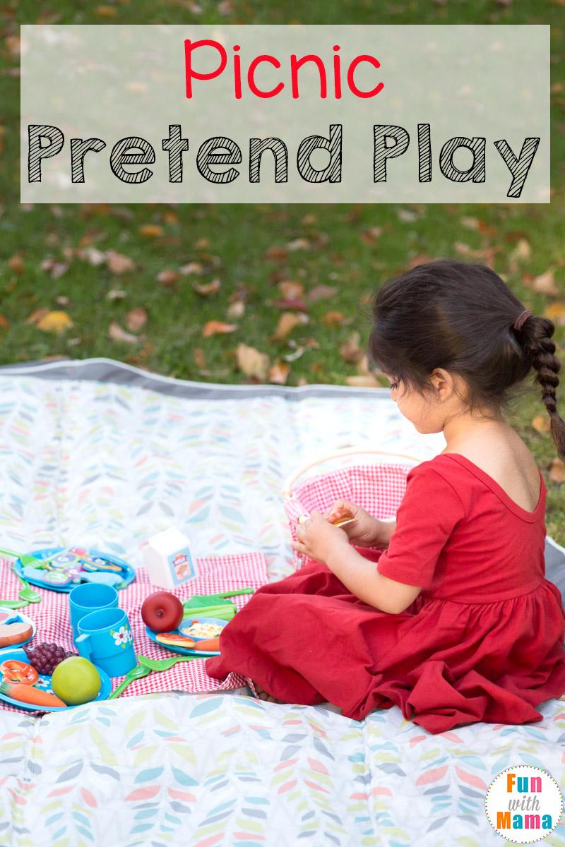 Picnic Pretend Play for Preschoolers - Fun with Mama