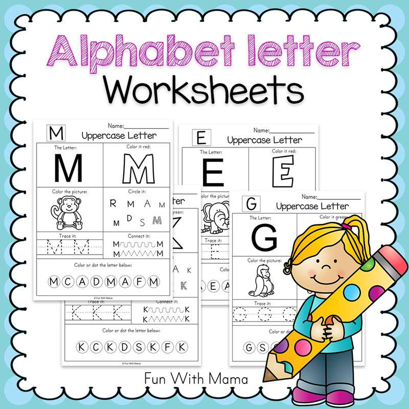 Letter Worksheets : Alphabet worksheets fun with mama